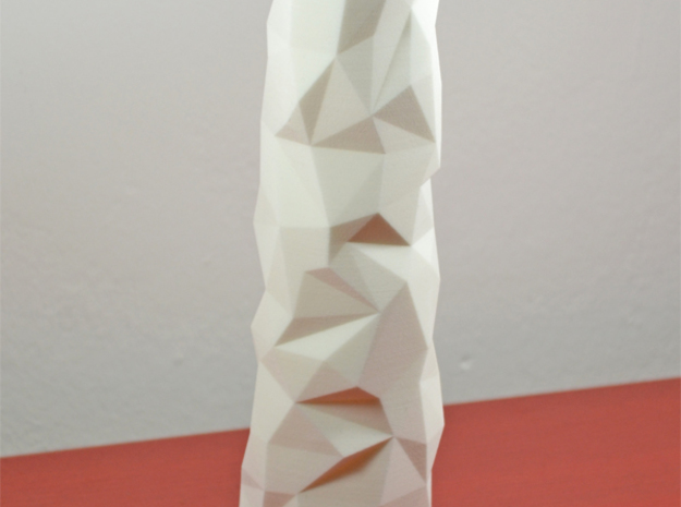 Facet vase in White Strong & Flexible