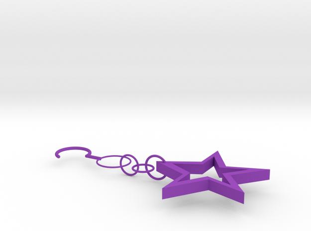 Star Earrings in Purple Strong & Flexible Polished