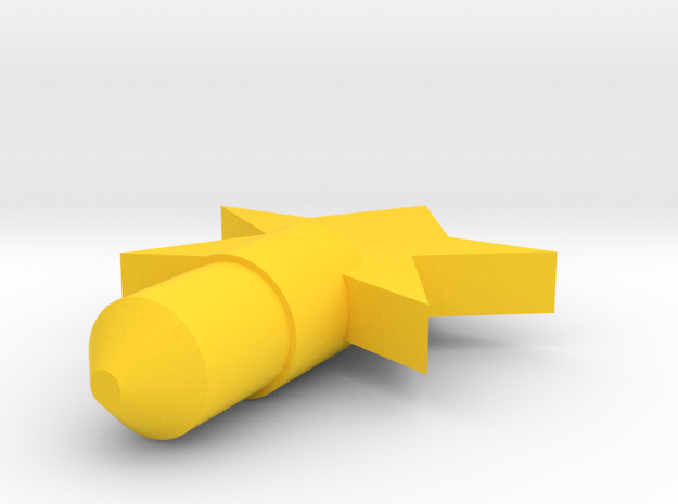 Star Dust Plug in Yellow Strong & Flexible Polished