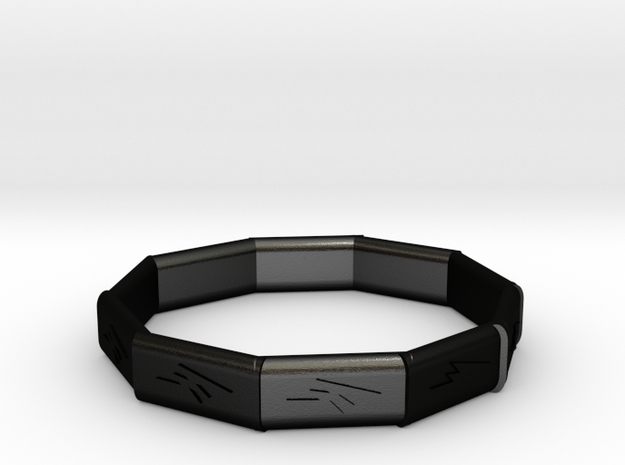 flash of  wristband in Matte Black Steel
