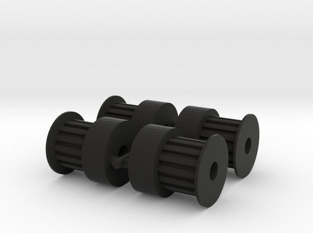 Pulley 15T (4pcs) in Black Natural Versatile Plastic