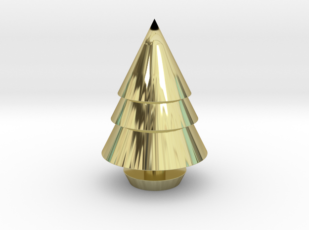 Christmas Tree Decorations in 18k Gold Plated: Medium