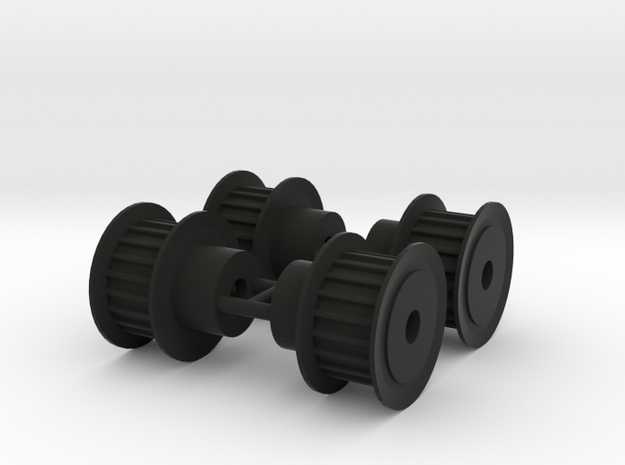 Pulley 20T (4 pcs) in Black Natural Versatile Plastic