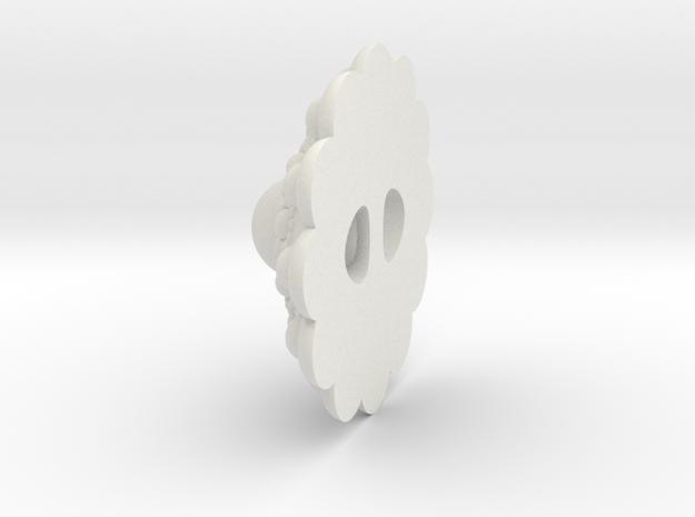 Zeeuwseknoop5 Met tunneltje in White Natural Versatile Plastic