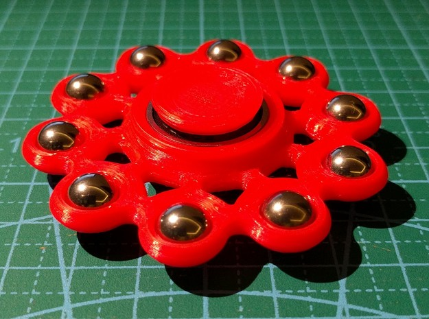Fidget Spinner in Red Strong & Flexible Polished