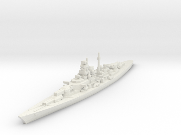 Bismarck class 1/2400 in White Strong & Flexible
