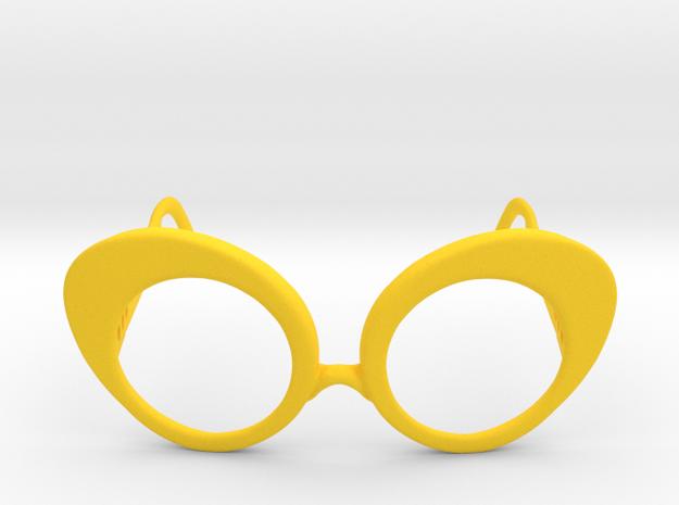 Dushka Glasses in Yellow Processed Versatile Plastic: Small