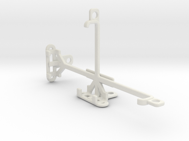 QMobile Noir LT250 tripod & stabilizer mount in White Natural Versatile Plastic