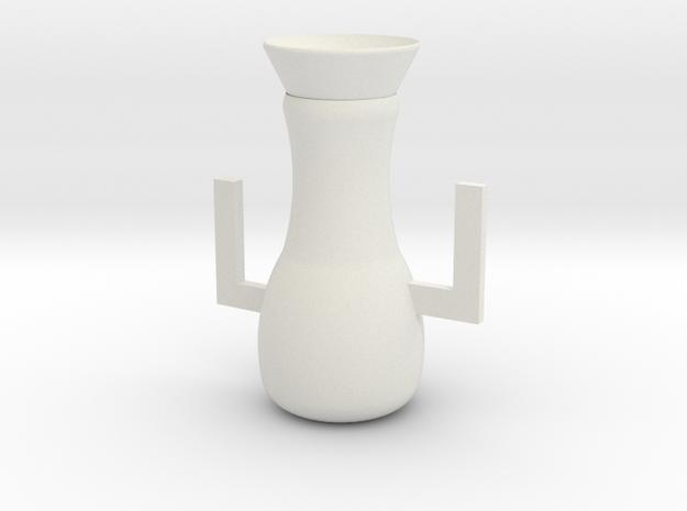Vase in White Strong & Flexible: Medium