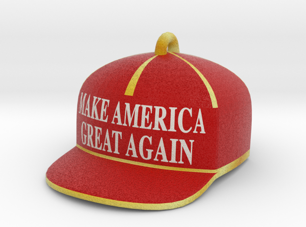 Trump Make America Great Again Red Hat Ornament 20 in Full Color Sandstone