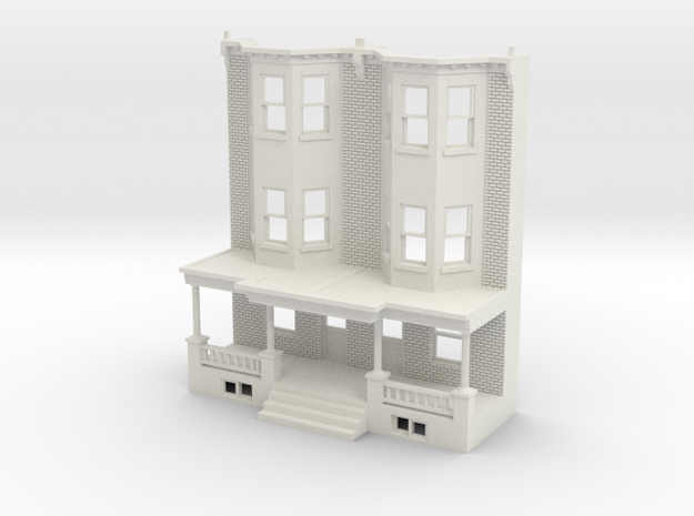 WEST PHILLY 3S ROW HOME 87 Brick TWIN  in White Natural Versatile Plastic