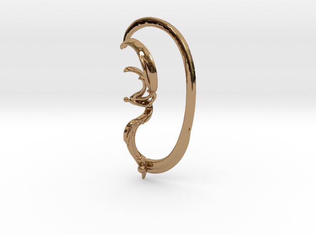 Pinna with Lower Support Hoop in Polished Brass