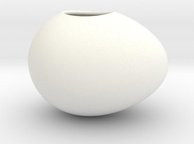 Silk To Egg Magic Trick - Large in White Processed Versatile Plastic