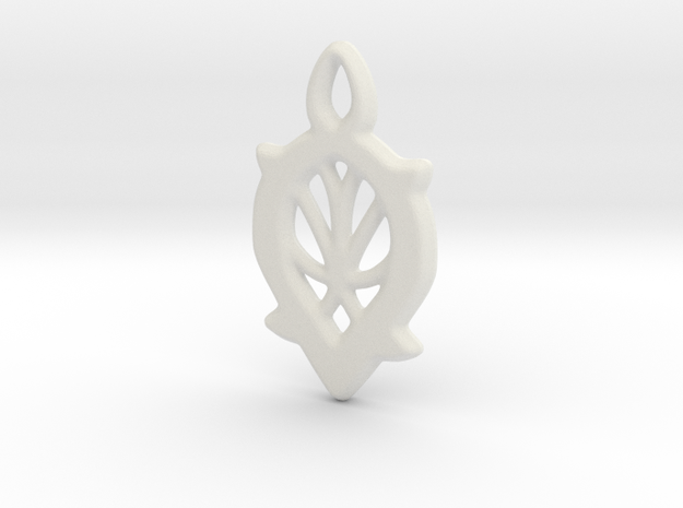 Dewdrop Web Pendant in White Strong & Flexible: Small