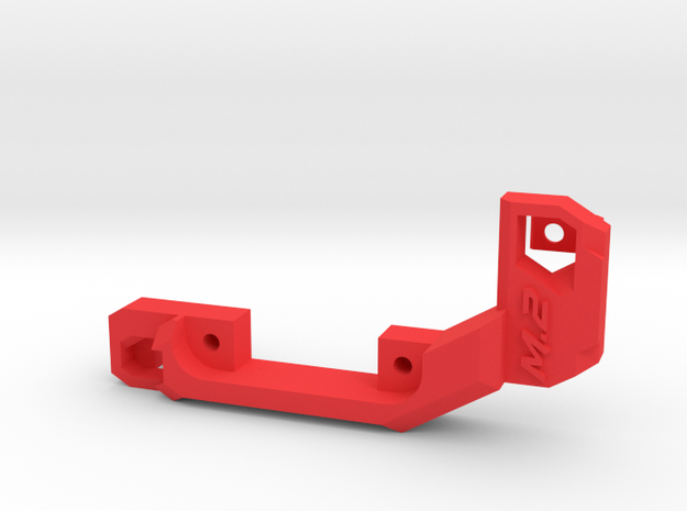 M.2 fan holder (short) in Red Processed Versatile Plastic