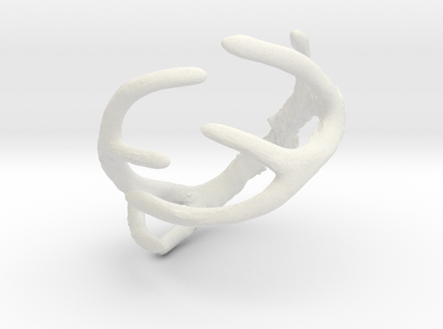 Antler Ring Size 12 - 22mm ID in White Strong & Flexible
