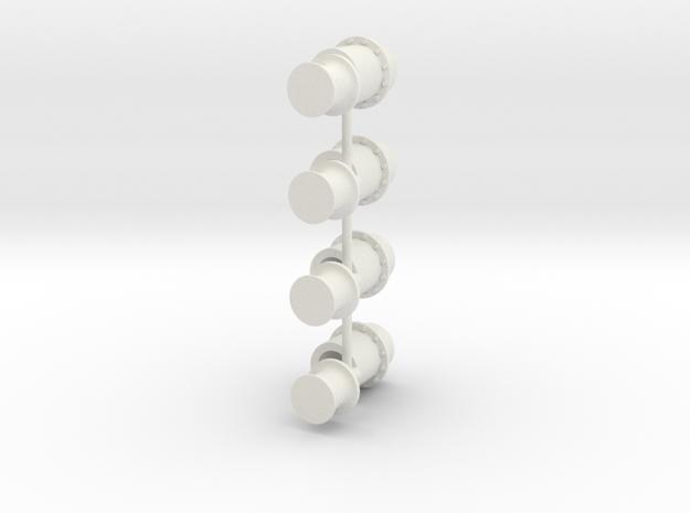 ASD2810 - capstan aftdeck (4 pcs) in White Strong & Flexible