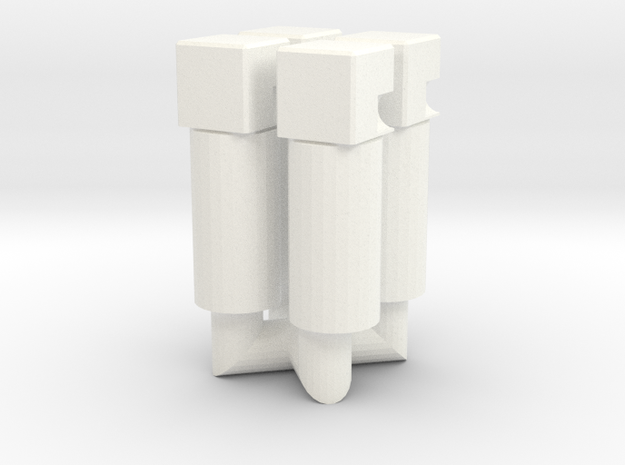 """5mm Peg To """"Titans Return"""" Head in White Processed Versatile Plastic"""