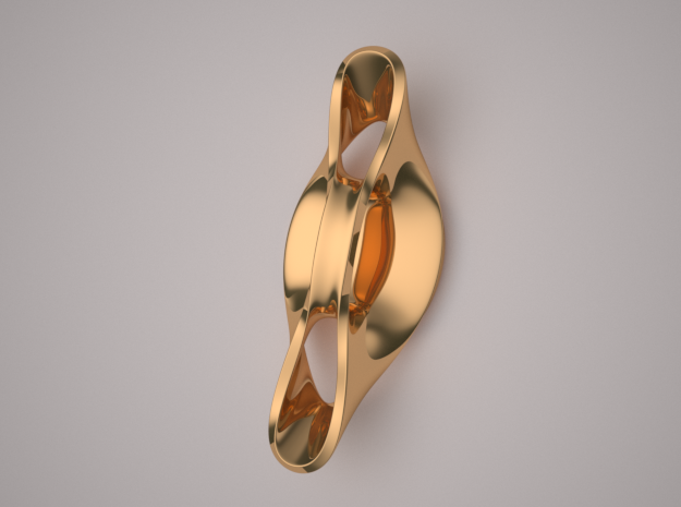 Triple Cube Brass 054 in Polished Brass