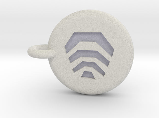 Runescape: Air Rune Keychain in Full Color Sandstone