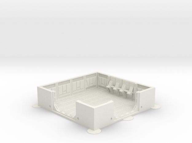Imperial Assault tile 23A in White Natural Versatile Plastic