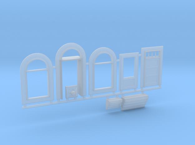 N-scale 1/160 Millie's Cafe Doors, Windows Etc. in Smooth Fine Detail Plastic