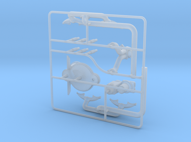 OX5-16 Scale-Parts-2 in Smooth Fine Detail Plastic