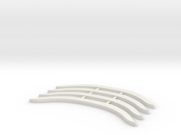 Renfort Audi R8 MiniZ 4pc in White Natural Versatile Plastic