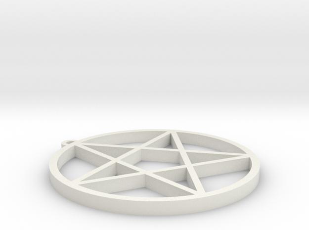 Dresden Pentagram in White Natural Versatile Plastic