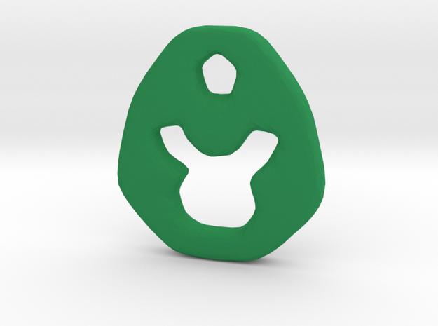 Taurus Zodiac Symbol Tag in Green Processed Versatile Plastic