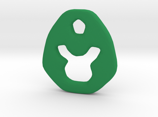 Taurus Zodiac Symbol Tag in Green Strong & Flexible Polished