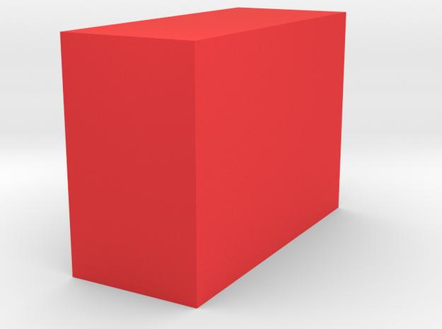 Square shoe in Red Processed Versatile Plastic