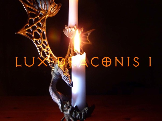 LUX DRACONIS 001  in Polished Bronzed Silver Steel