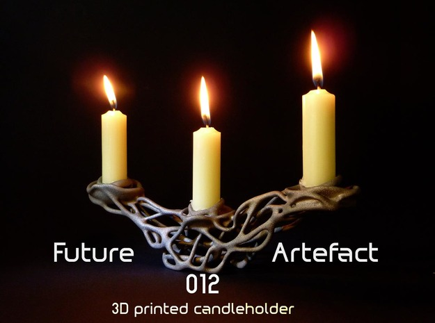 Future Artefact 012 in Polished Bronzed Silver Steel