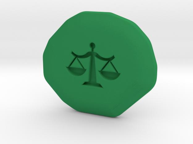 Justice Runestone in Green Processed Versatile Plastic