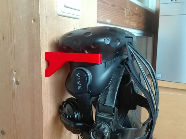Vive Hmd Wall Mount in Black Strong & Flexible