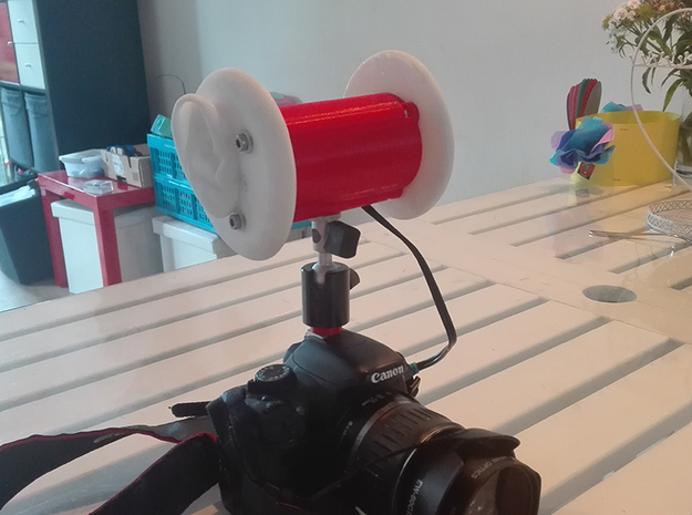 Binaural Mic Mount in Red Strong & Flexible Polished