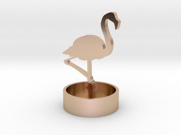 Flamingo in 14k Rose Gold