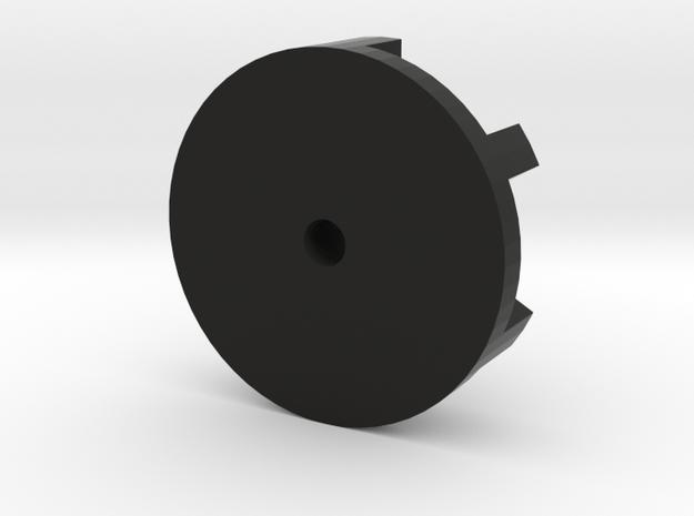 Broadcaster wheel for salt spreader in Black Natural Versatile Plastic