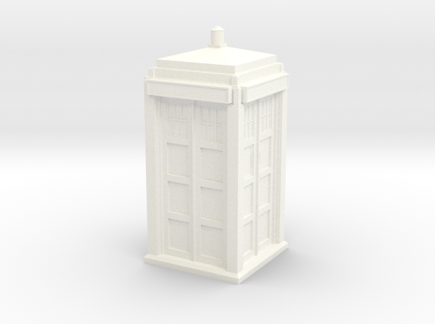 The Physician's Blue Box in 1/72 scale (Hollow) in White Strong & Flexible Polished