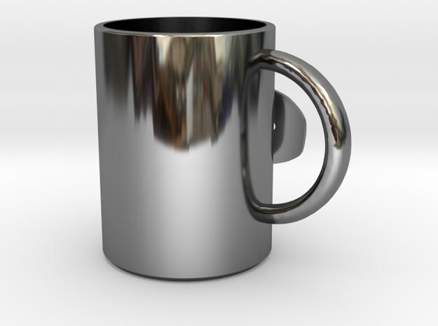 MUG.stl in Premium Silver