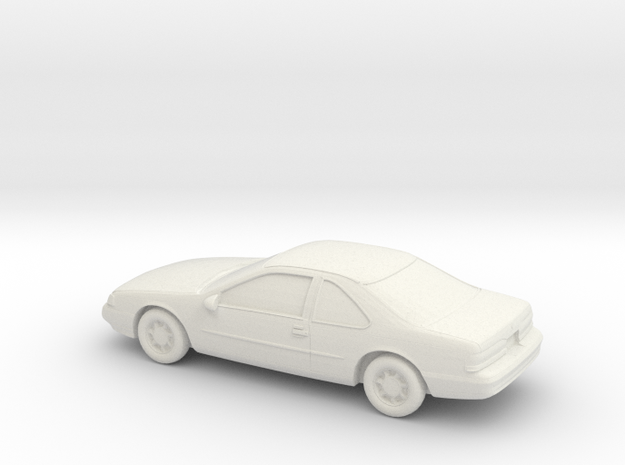 1/43 1990 Ford Thunderbird in White Natural Versatile Plastic