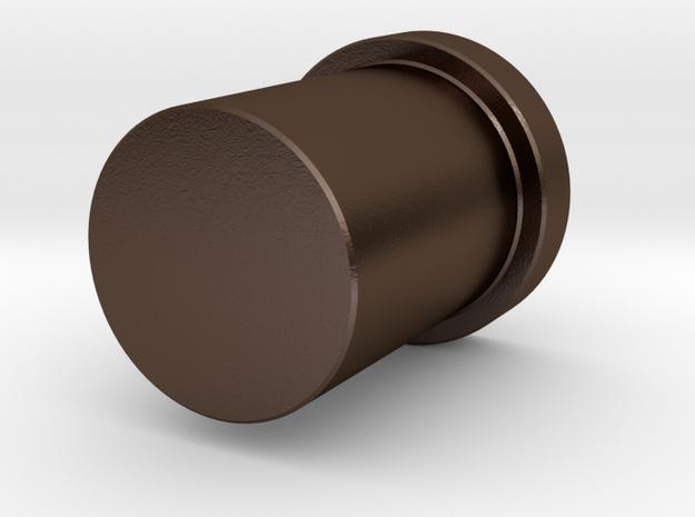 Mario water tube  penholder in Polished Bronze Steel