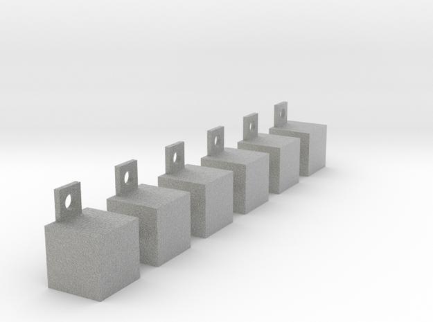 Multifunctional shelves in Metallic Plastic
