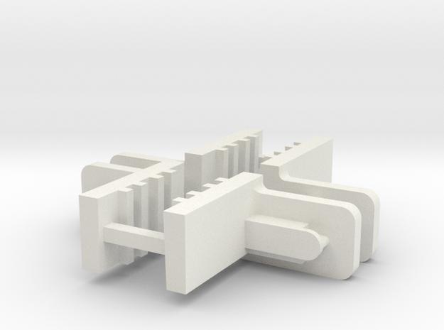 FixLat Mosler -2 MiniZ 2pr  in White Natural Versatile Plastic