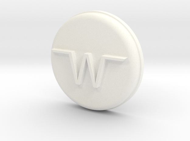 1/10 SCALE 70'S WINNEBAGO TIRE COVER TOP in White Processed Versatile Plastic: 1:10
