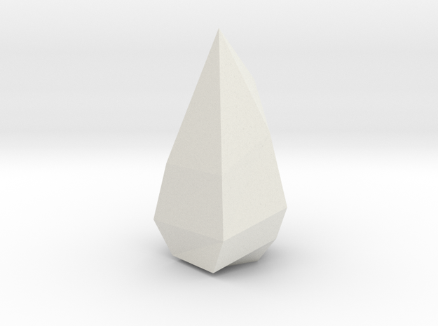 Low poly Crystal in White Natural Versatile Plastic
