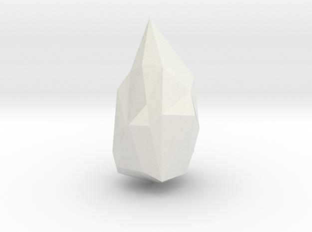 Crystal  in White Natural Versatile Plastic