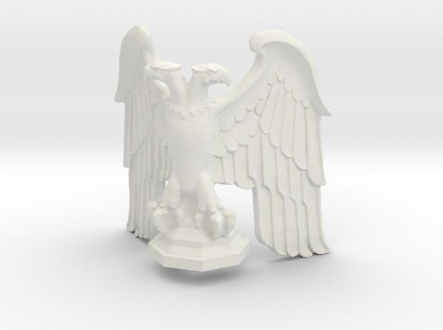 Eagle: Corner Statue with Base v1 in White Natural Versatile Plastic