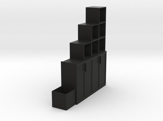 Multi-function cabinet in Black Natural Versatile Plastic